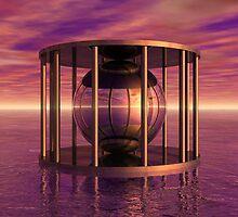 Metal Cage Floating In Water by perkinsdesigns