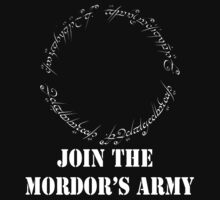 Join The MORDOR'S ARMY (white version) by saviorum