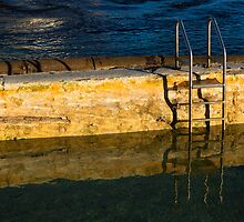 A Ladder In A Swimming Pool by Jeff Catford