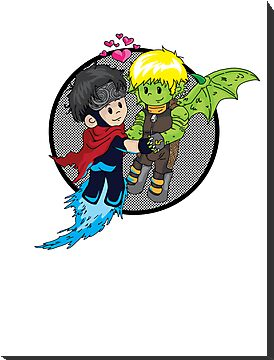 Wiccan and Hulkling by Mitte