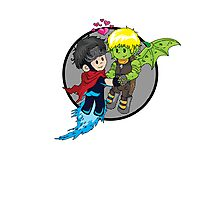 Wiccan and Hulkling Photographic Print