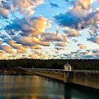 Dusk At The Dam by Leah Kennedy