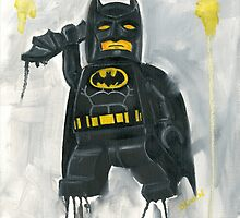 Batman in Black by Deborah Cauchi