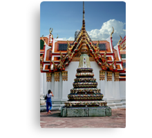 Doi Suthep Stupa And Shrine Canvas Print