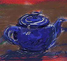 Blue Teapot by Visuddhi