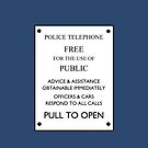 TARDIS Door Sign by IntWanderer