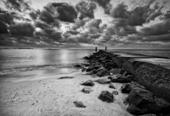 Moments Before Sunrise (Black & White) by Yelena Rozov