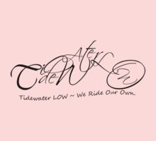 Pink or White Tidewater LOW Chopper T-shirt & Stickers by Halie Hovenga