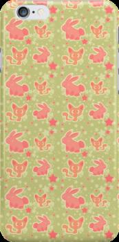 Bunnies and Kitties Pattern by SaradaBoru