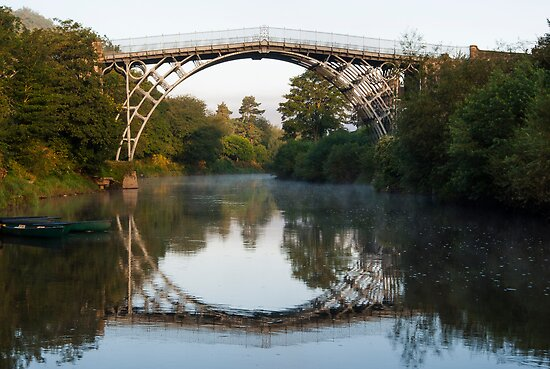 Iron Bridge at Sunrise by John Hallett