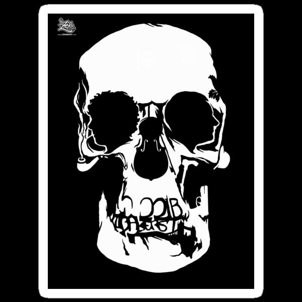 Sherlock Wall Skull Stickers! by zerobriant