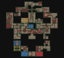 8BIT Skull Map by John King III