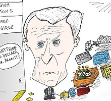 Caricature of Bernard Arnault by Binary-Options