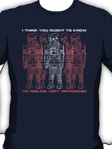 Hitchhikers Guide to the Galaxy - Marvin the Paranoid Android T-Shirt