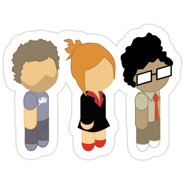 The IT Crowd - Cute Roy, Moss and Jen by metacortex