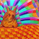 368 - RAINBOW CAT DESIGN - DAVE EDWARDS - COLOURED PENCILS - 2012 by BLYTHART