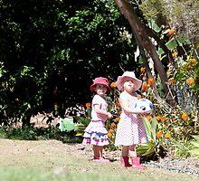 Two Little Girls by Jenelle  Irvine