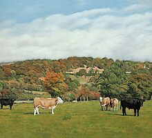 Cattle Near Pentyrch by Artberry
