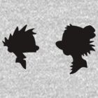Calvin and Hobbes Silhouette by Luc Kersten