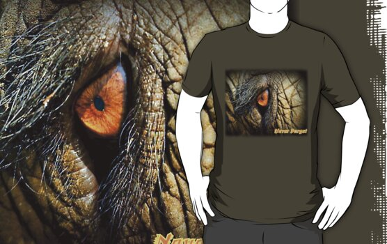 *EYE* Never Forget - Elephant Tee by naturelover