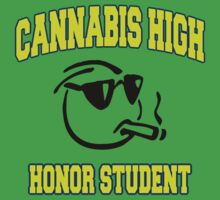 Cannabis High by MarijuanaTshirt