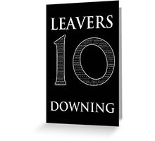 10 Downing Leavers Greeting Card