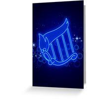 Sailor Mercury Henshin Background Greeting Card