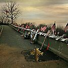 April 2002 Sunrise At Eagle Rock Lookout - Home made Memorials to 9-11 Photo 2 by Jane Neill-Hancock