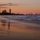 Burleigh Sunset by D Byrne