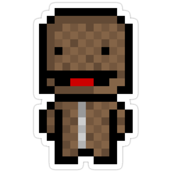 Pixel Sackboy Sticker by PixelBlock