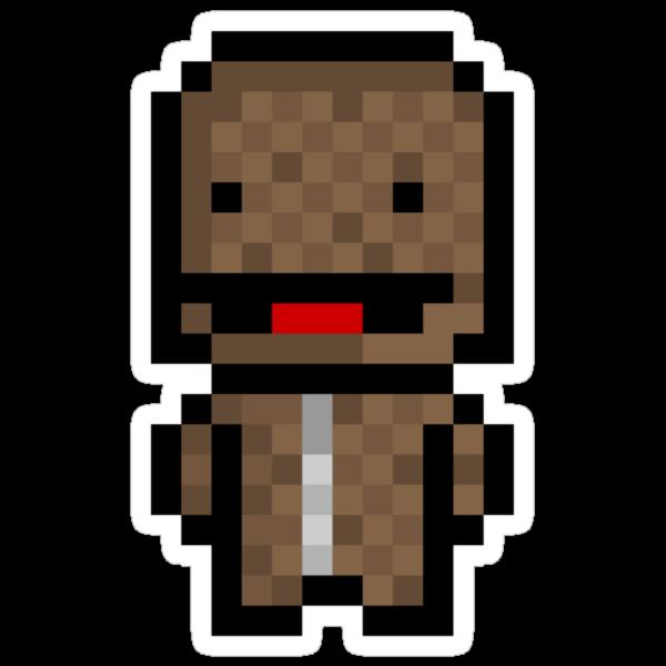 Pixel Sackboy Sticker by PixelBlock