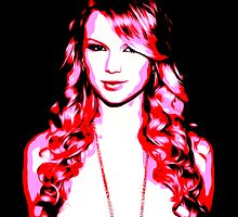 Taylor Swift - Pink - Pop Art by wcsmack