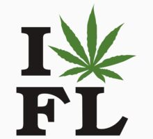 I Love Florida Marijuana Cannabis Weed T-Shirt by MarijuanaTshirt