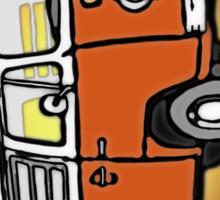 Orange Bay Graphic Sticker