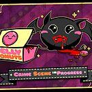 Fat Bat Crime Scene Halloween Card by spicydonut