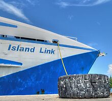 Cargo Boat at Potter's Cay - Nassau, The Bahamas by 242Digital