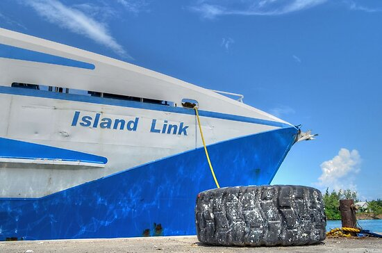 Cargo Boat at Potter's Cay - Nassau, The Bahamas by Jeremy Lavender Photography