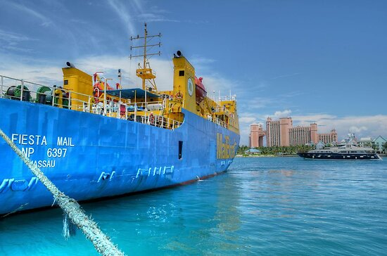 Mailboat Ferry docked at Potter's Cay in Nassau, The Bahamas by 242Digital