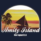 Amity Island - (JAWS)  by LamericaTees