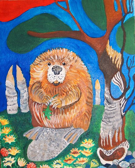 My Beaver knows what she is doing by Nora Fraser