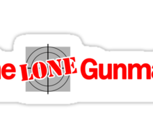 The Lone Gunman (The Lone Gunmen) - Newspaper Group Sticker