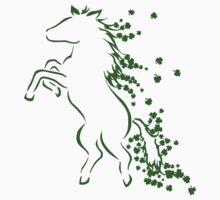 Shamrock Clover Mane Horse Contour by hybridwing