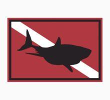 SCUBA Shark Dive Flag Kids Clothes