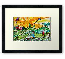 Kite Flying Framed Print