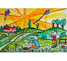 Kite Flying Photographic Print