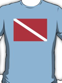 SCUBA Diver Down Flag T-Shirt