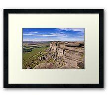 Stanage Edge, Peak District National Park, UK Framed Print