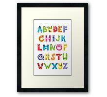 Alphabet Monsters poster Framed Print