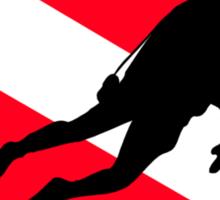 Scuba Diver Down Flag Sticker