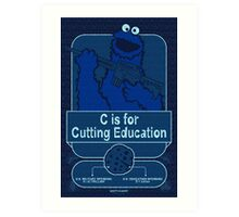 C is for Cutting Education Art Print